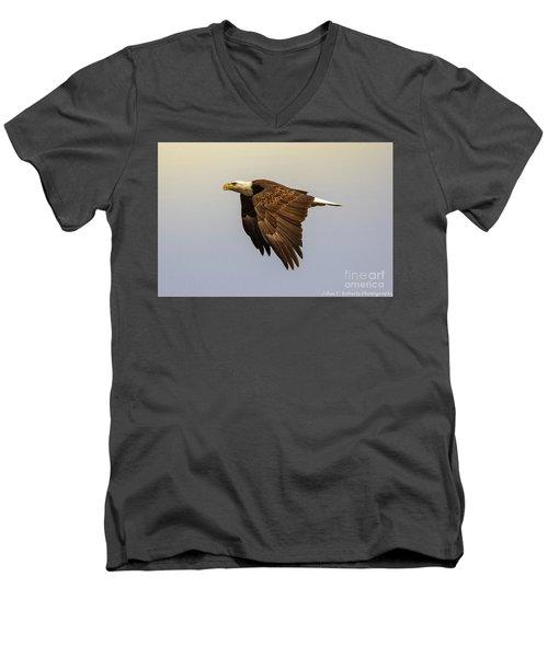 Flying High Men's V-Neck T-Shirt by John Roberts