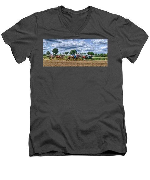Flying Men's V-Neck T-Shirt