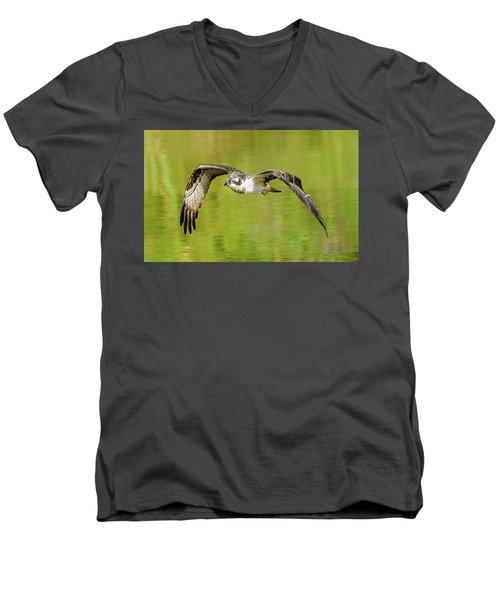 Flying Osprey Men's V-Neck T-Shirt
