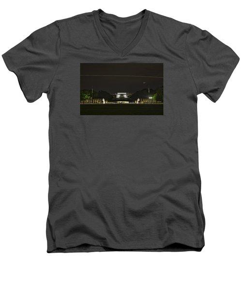 Flying Over Liberty Men's V-Neck T-Shirt