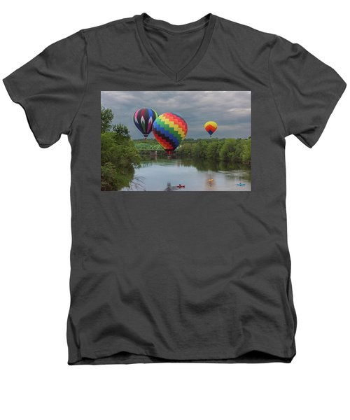 Flying Over The Androscoggin Men's V-Neck T-Shirt