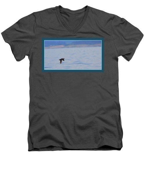 Flying Rhino Men's V-Neck T-Shirt by BYETPhotography