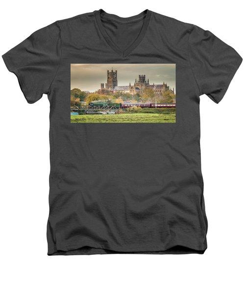 Flying Scotsman At Ely Men's V-Neck T-Shirt