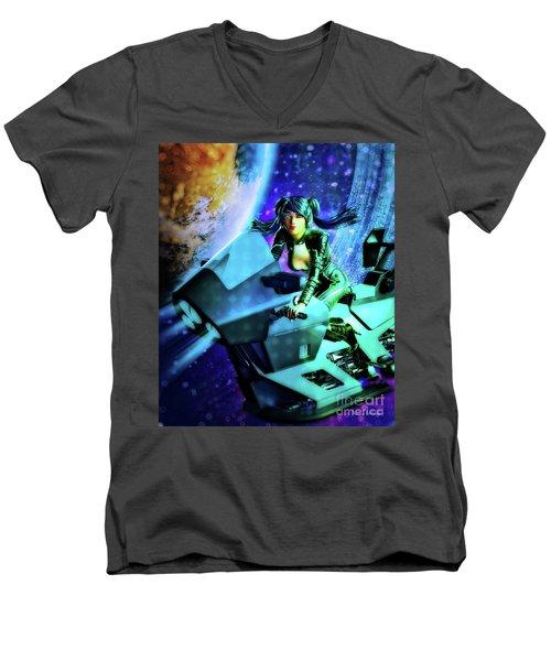 Flying Through Galaxies Men's V-Neck T-Shirt
