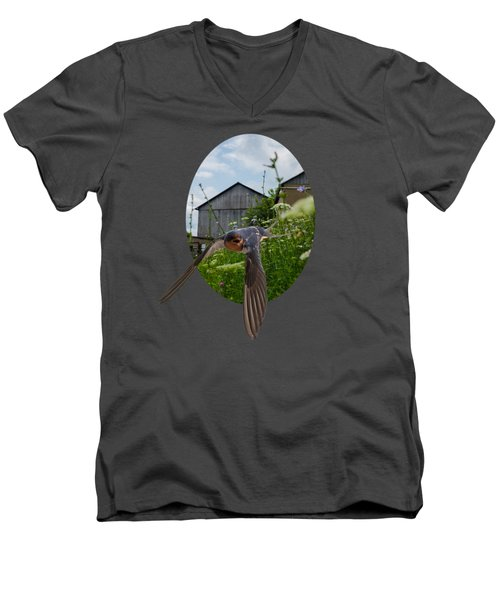 Flying Through The Farm Men's V-Neck T-Shirt by Jan M Holden