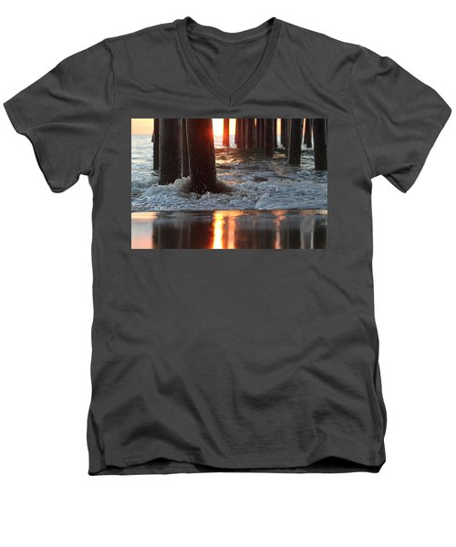 Foamy Waters Under The Pier Men's V-Neck T-Shirt
