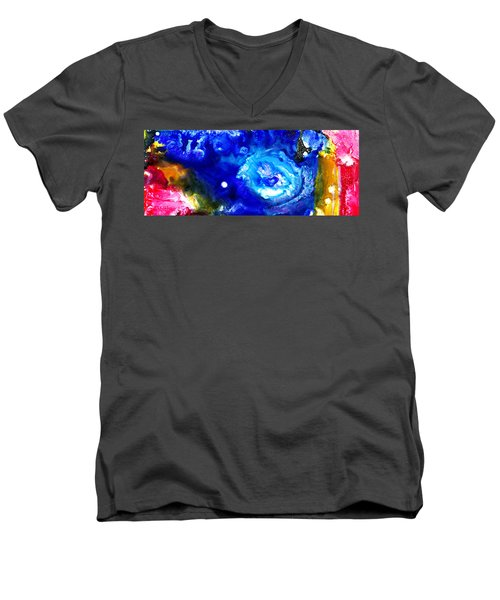 Focal Epilepsy Men's V-Neck T-Shirt by Sir Josef - Social Critic -  Maha Art