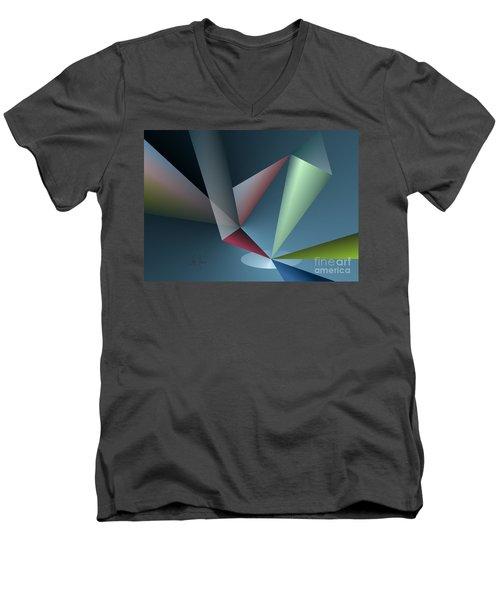 Focus Men's V-Neck T-Shirt by Leo Symon