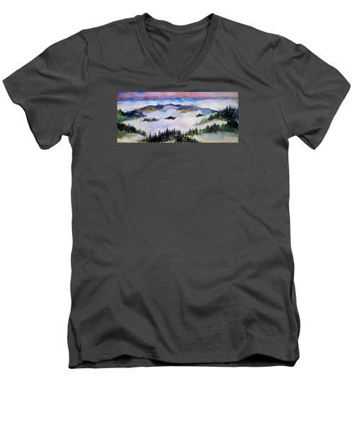 Fog  Above Men's V-Neck T-Shirt