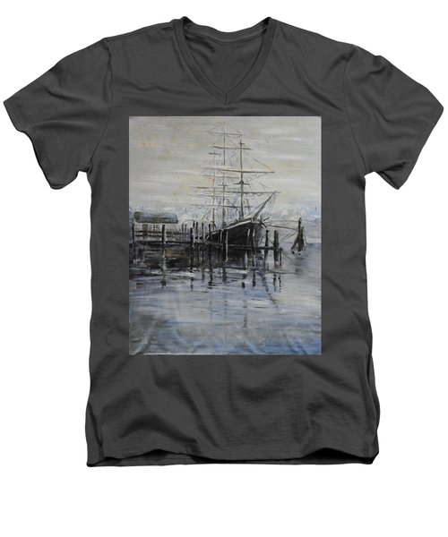 Fog Bound At Tillamok Men's V-Neck T-Shirt