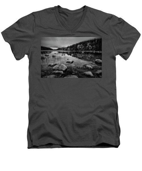 Fog On Bubble Pond Men's V-Neck T-Shirt