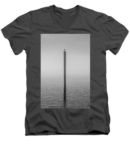 Fog On The Cape Fear River Men's V-Neck T-Shirt