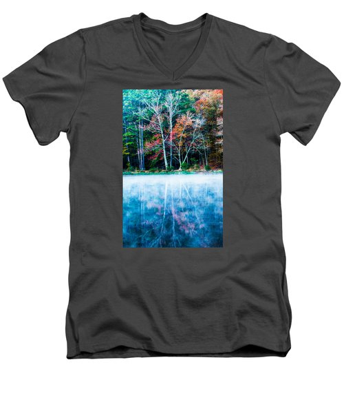 Fog On The Lake Men's V-Neck T-Shirt