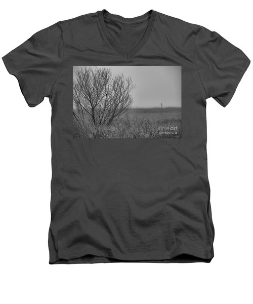 Men's V-Neck T-Shirt featuring the photograph The Fog Of History by Phil Mancuso