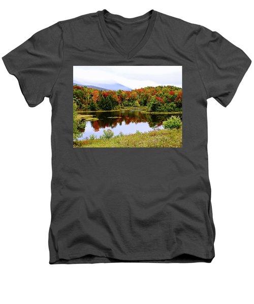 Foggy Day In Vermont Men's V-Neck T-Shirt