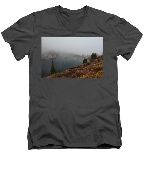 Foggy Liberty Lake Men's V-Neck T-Shirt