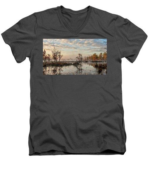 Foggy Morning In The Pines Men's V-Neck T-Shirt