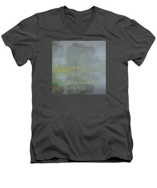 Foggy Morning On Pond Street Men's V-Neck T-Shirt