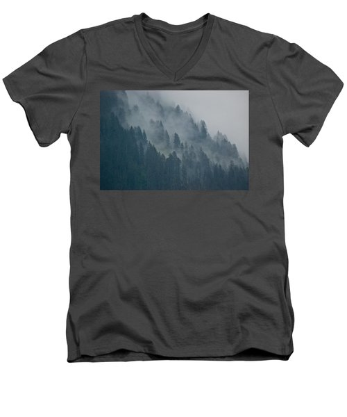 Foggy Mountain Ridge Men's V-Neck T-Shirt