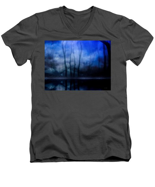 Foggy Night Men's V-Neck T-Shirt by Gabriella Weninger - David