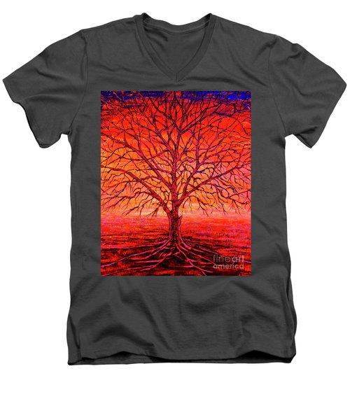 Foggy Red Men's V-Neck T-Shirt