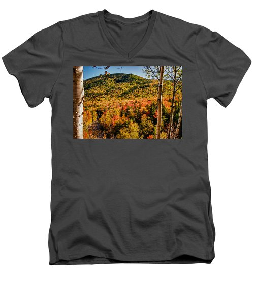Foliage View From Crawford Notch Road Men's V-Neck T-Shirt