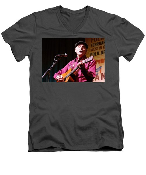 Men's V-Neck T-Shirt featuring the photograph Folk Alliance 2014 by Jim Mathis