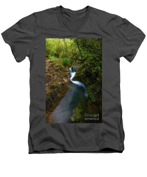 Follow It I Men's V-Neck T-Shirt by Yuri Santin
