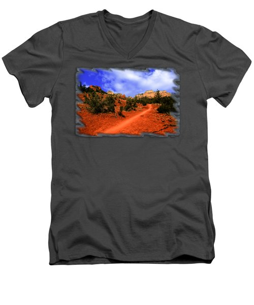 Follow Me Men's V-Neck T-Shirt by Mark Myhaver