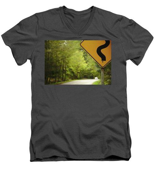 Follow The Sign Men's V-Neck T-Shirt by Cendrine Marrouat