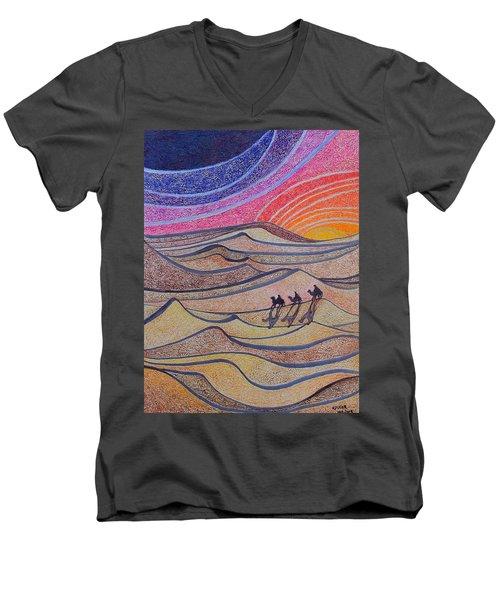 Follow The Star   Men's V-Neck T-Shirt
