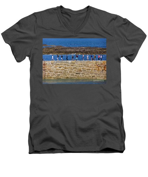 Men's V-Neck T-Shirt featuring the photograph Follow The Yellow Brick Road by Terri Waters