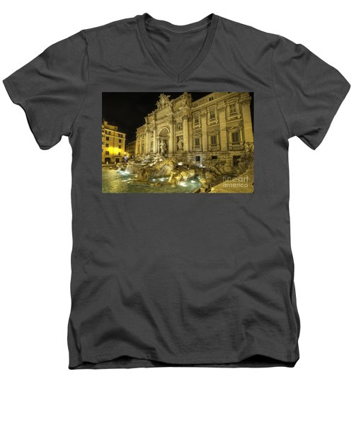 Fontana Di Trevi 1.0 Men's V-Neck T-Shirt by Yhun Suarez