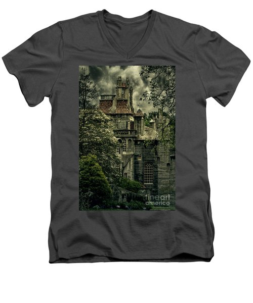 Fonthill With Storm Clouds Men's V-Neck T-Shirt