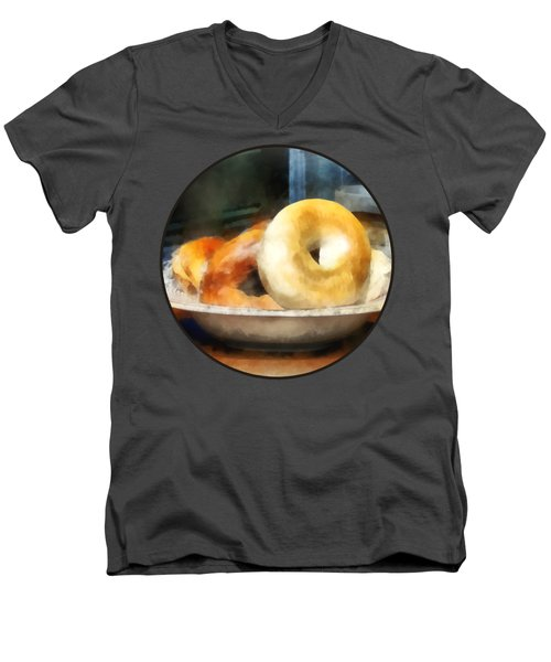 Food - Bagels For Sale Men's V-Neck T-Shirt
