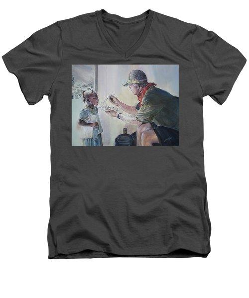 Food For Thought Men's V-Neck T-Shirt