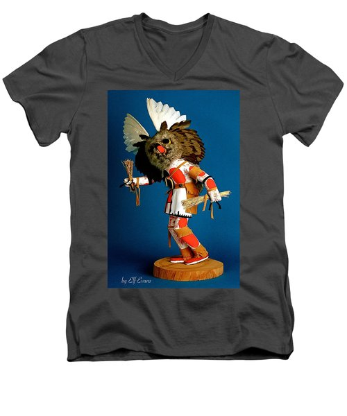 Men's V-Neck T-Shirt featuring the photograph Fool Me Once Shame On Me by Elf Evans