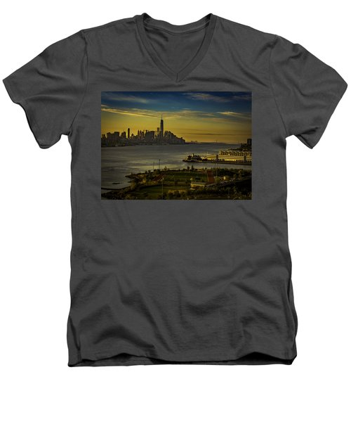 Football Field With A View Men's V-Neck T-Shirt