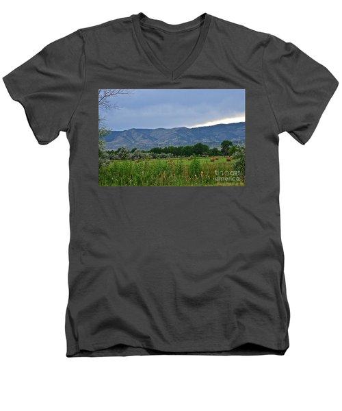 Foothills Of Fort Collins Men's V-Neck T-Shirt