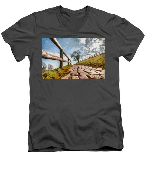 Men's V-Neck T-Shirt featuring the photograph Footpath by Sergey Simanovsky