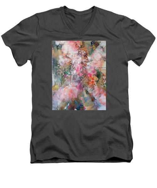 Footprints Men's V-Neck T-Shirt by Becky Chappell