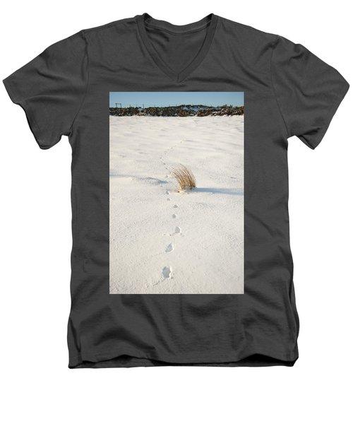 Footprints In The Snow II Men's V-Neck T-Shirt
