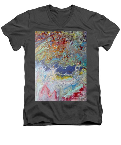 Men's V-Neck T-Shirt featuring the painting For All Eternity by Deborah Nell