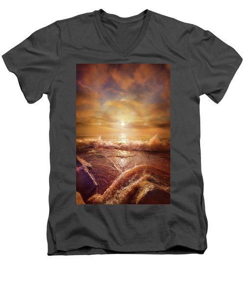 Men's V-Neck T-Shirt featuring the photograph For Everything Give Thanks by Phil Koch
