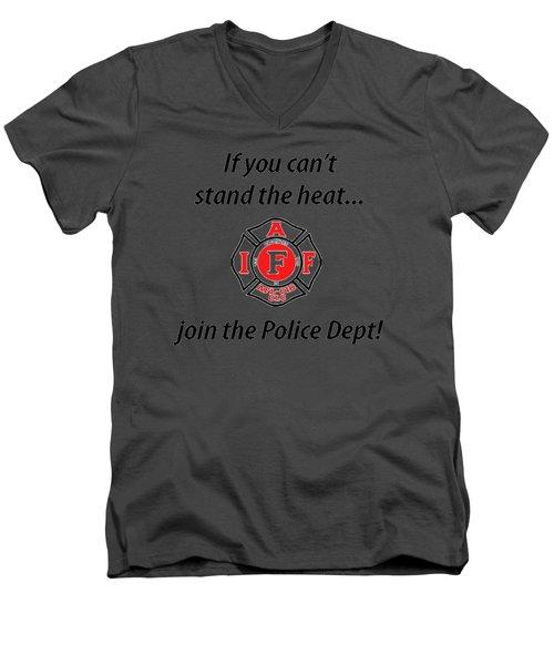 For Firefighters Men's V-Neck T-Shirt