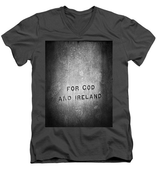 For God And Ireland Macroom Ireland Men's V-Neck T-Shirt
