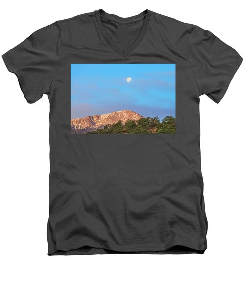 For God So Loved The World That He Created Mountains.  Men's V-Neck T-Shirt