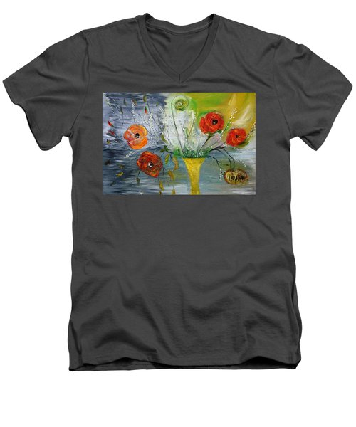Men's V-Neck T-Shirt featuring the photograph For Mom by Evelina Popilian