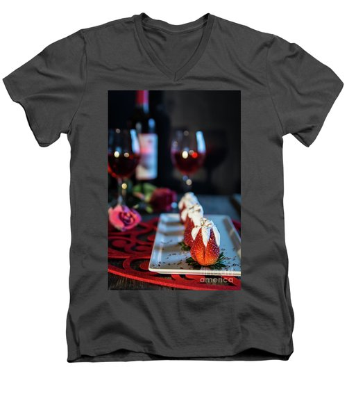 Men's V-Neck T-Shirt featuring the photograph For My Sweetheart by Deborah Klubertanz