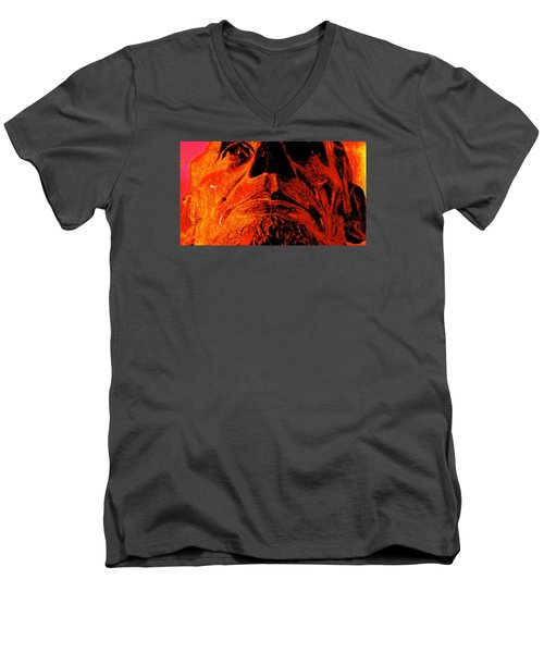 Force Of Character Men's V-Neck T-Shirt by Jeff Gater